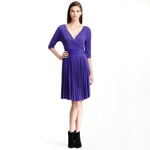 BCBGMaxazria Cruz Pleated Faux Wrap Dress